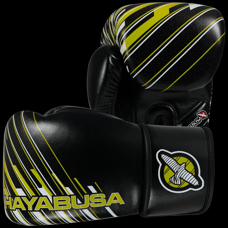 Black gloves singapore - Ikusa Charged 14oz Gloves Black Lime Green