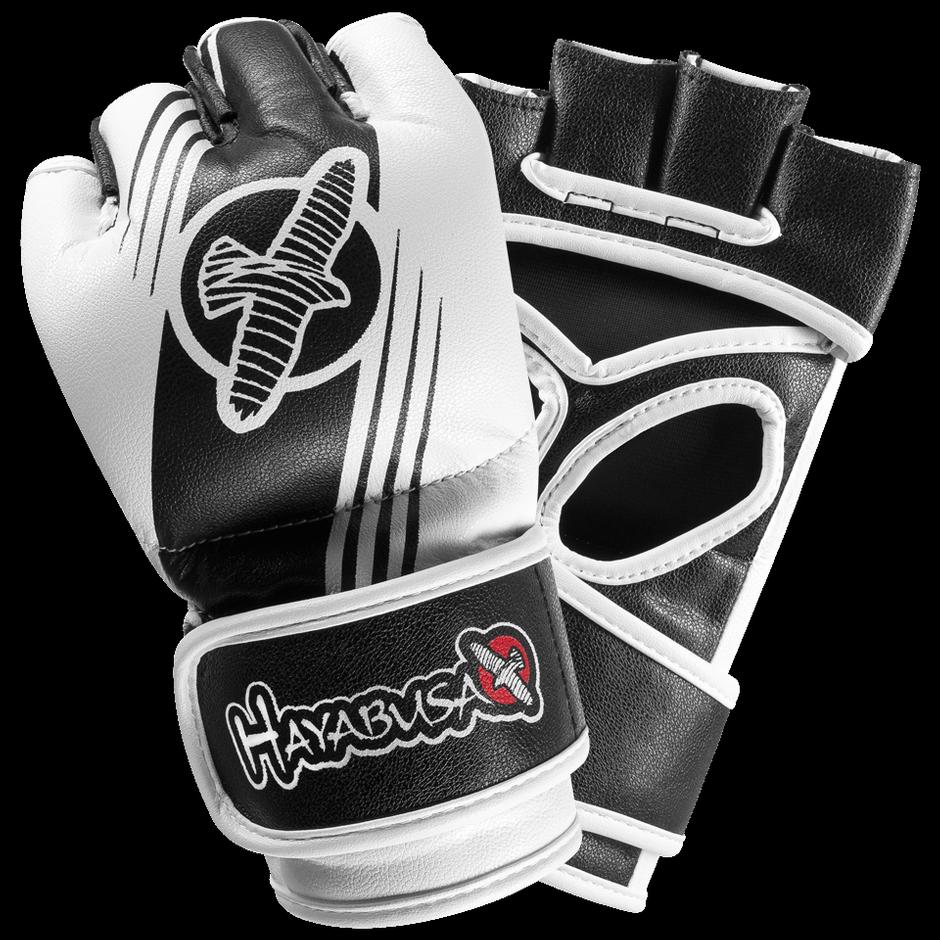 Black gloves singapore - Ikusa Recast 4oz Mma Gloves Black White