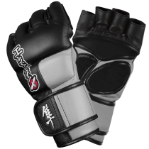 Tokushu 4oz MMA Gloves - Black/Slate Grey